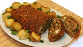 Meatloaf with Spinach and Feta