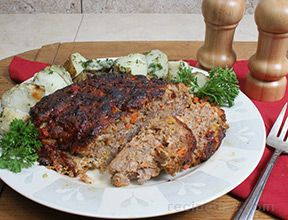 Meatloaf with Ketchup Balsamic Glaze