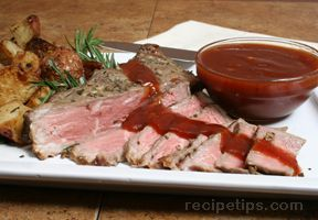 New York Strip with Zesty Barbecue Sauce