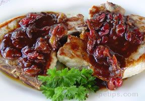 Pork Chops with Gooseberry Sauce
