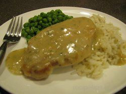 Pork Chops and Rice with Ranch Cream Sauce Recipe