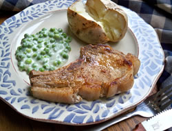 Pork Chops with Lemon Pepper