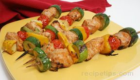 skewered pork and vegetables Recipe