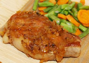 pork chops braised in cider Recipe