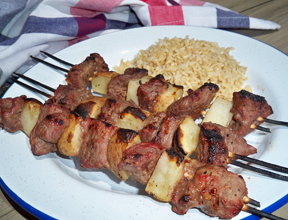 quick n easy steak n tater kabobs Recipe