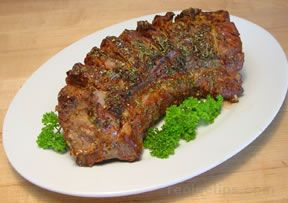 rack of lamb in a mustard-pepper crust Recipe