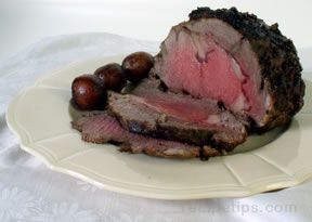 Rib-Eye Roast with Cracked Pepper Rub