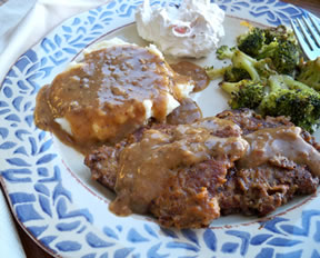 round steak and gravy Recipe