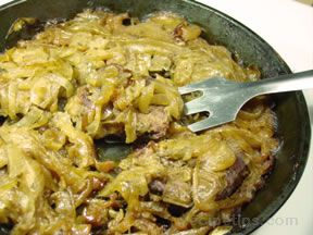 round steak baked with onions Recipe