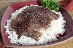 Steak Strips in Wine Sauce