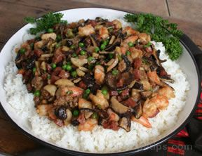 sausage vegetables and sweet rice Recipe