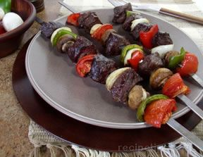 Beef Kebabs on the Grill