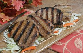 Grilled Teriyaki Pork Chops