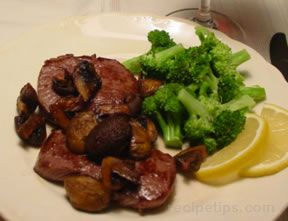 Venison with Roast Mushrooms