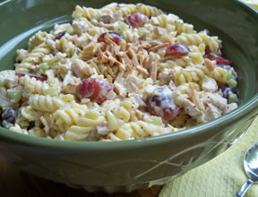 Chicken Pasta Salad with Poppyseed Dressing