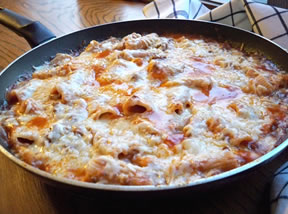 Easy Cheesy Pasta Skillet Recipe