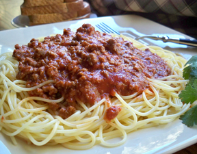 easy spaghetti and sauce