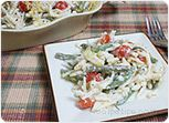 Pasta with Grean Beans and Tomatoes Recipe