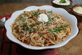 Fettuccine with Bolognese Sauce Recipe