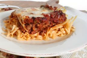 italian sausage and pasta bake Recipe