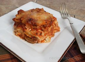 Overnight Italian Turkey Lasagna