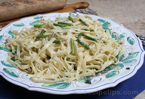 Lemon Pasta with Grilled Asparagus
