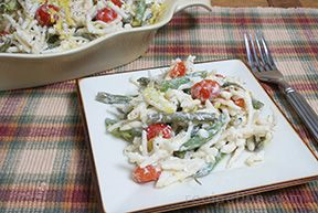 Pasta with Grean Beans and Tomatoes
