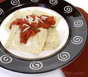 Quick Ravioli with Marinara Sauce