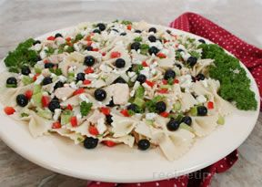 Red White and  Blue Pasta Salad Recipe