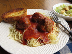 Spaghetti with Meatballs and Sauce