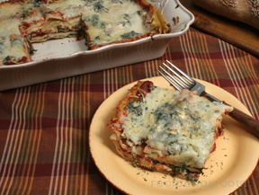 Light and Healthy Spinach Lasagne
