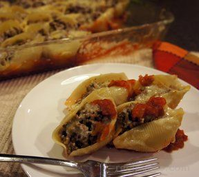 Taco Filled Pasta Shells
