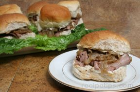 Beef and Blue Sandwiches with Caramelized Onion