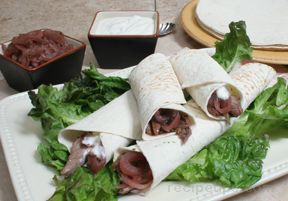Beef Tacos with Onion Jam and Horseradish Cream