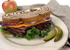 beef on marble rye Recipe