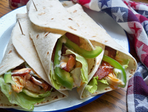 Buffalo Chicken Bacon Wrap