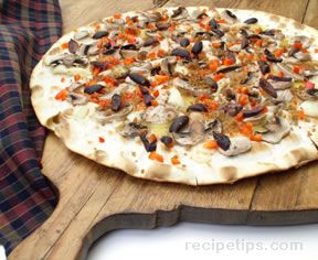 Cheese and Mushroom Lavosh