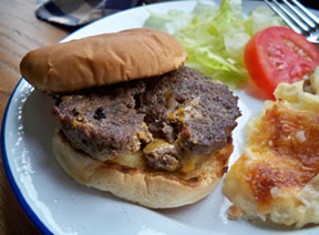 cheesy burgers Recipe