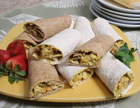 Grilled Mandarin Curry Chicken Wraps Recipe