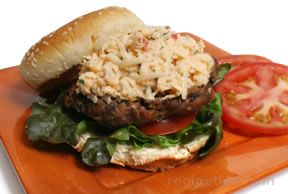 Cuban Burger with Jicama Slaw