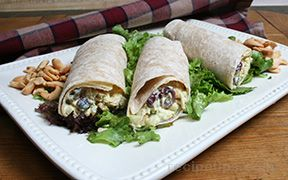 Curried Chicken Wraps Recipe