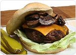 Grilled Mushroom and Cheese Burger Recipe