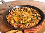 Potato Pizza with Cheese and Vegetables Recipe