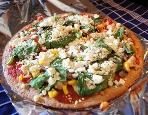 greek vegetable pizza Recipe