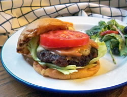 Grilled Bacon and Swiss Burger