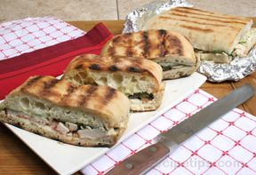 Grilled Chicken Ciabatta Sandwiches