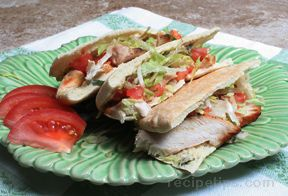 Grilled Chicken Pita Sandwiches Recipe