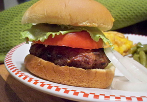 grilled combo burger Recipe