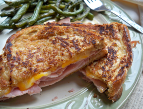 grilled ham and cheese sandwich Recipe