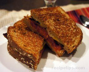 Grilled Tomato Bacon and Cheese Sandwich